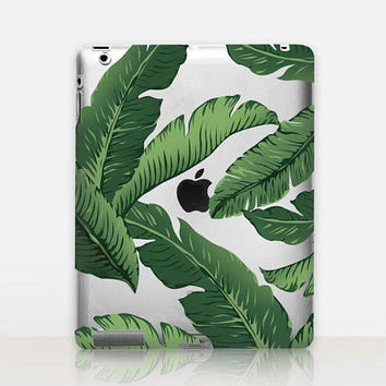 Banana Leaves Transparent iPad Case For - iPad 2, iPad 3, iPad 4 - iPad Mini - iPad Air - iPad Mini 4 - iPad Pro