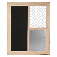 "Darice 16 by 20"" Memo Chalk Board with Chicken Wire"