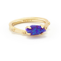 Kendra Scott: Julia Ring Purple Kyocera Opal