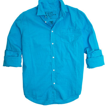 Frank & Eileen Luke Medium Blue Light Poplin Shirt