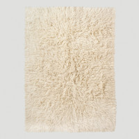 Ivory Flokati Wool Rug - World Market
