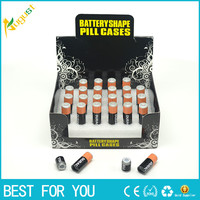1pc Free Shipping small Battery Secret Stash Diversion Safe Pill Box Hidden Money Coins Container Case