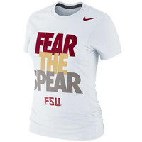 Florida State Seminoles Nike Women's Local Slim Fit T-Shirt – White