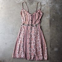 final sale - reverse - day at the beach sun dress - beige print