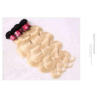 Peruvian Body Wave Blonde Color Human Weave Virgin Hair