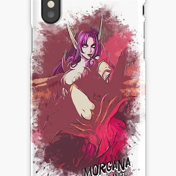 'Morgana - Fallen Angel' iPhone Case/Skin by Naumovski