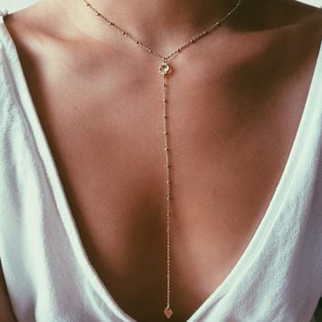 Gift New Arrival Jewelry Shiny Stylish Sweater Chain Tassels Necklace [16106717204]