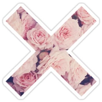 THE XX LOGO-PINK FLOWERS