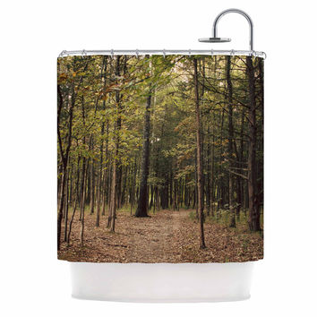 "Sylvia Coomes ""Forest Trees"" Green Brown Shower Curtain"