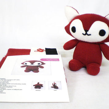 Plush Red Fox Sewing Kit DIY