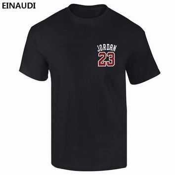 EINAUDI 2017 New Brand Clothing Jordan 23 Men T-shirt Swag 100% Cotton Print Men T-sh