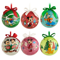 Mickey Mouse and Friends Découpage Ornament Set - Holiday