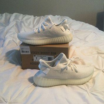 DCCK Adidas Yeezy 350 V2 Cream Triple White Boost CP9366 Men Size 7 Shoes New 2017