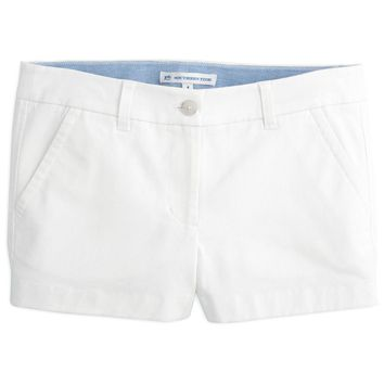 """3"""" Leah Short in Classic White by Southern Tide"""