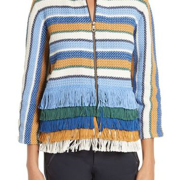 Tory Burch Kinston Stripe Tweed Jacket | Nordstrom