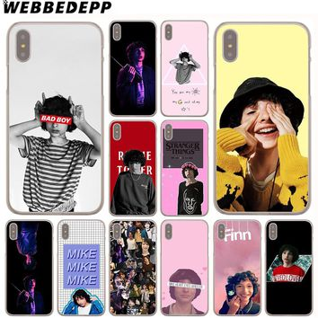 WEBBEDEPP Finn Wolfhard Stranger Things Case for Apple iPhone 4 4S 5C 5S SE 6 6S 7 8 Plus 10 X Xr Xs Max 6Plus 7Plus 8Plus