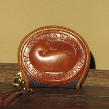 Mini Dooney & Bourke Duck Wristlet Coin Purse With Brass Hardware and Boho Duck VGC