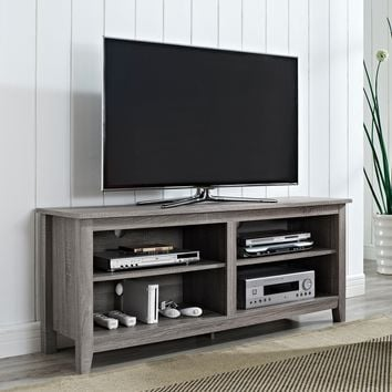 "58"" Essential Wood TV Console Ash Grey"