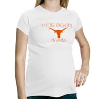 My U Texas Longhorns Maternity T-Shirt - White