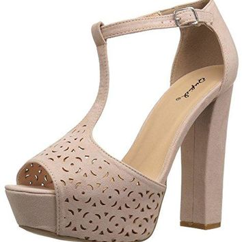 Qupid Womens Beat92 Heeled Sandal