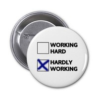 Hardly Working Pinback Button
