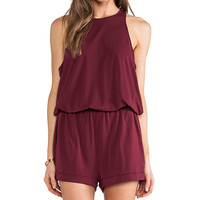 Elizabeth and James Lisa Romper in Wine