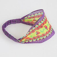 Purple,  Green  &  Red  Flower  Gypsy  Headband  From  Natural  Life