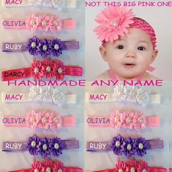 2 x Headbands personalised HANDMADE 0-5yrs any name SPECIAL OFFER