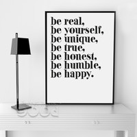 Inspiration Quote Canvas Painting Poster, Wall Pictures For Living Room Home Decoration Print On Canvas, Frame not include FA142