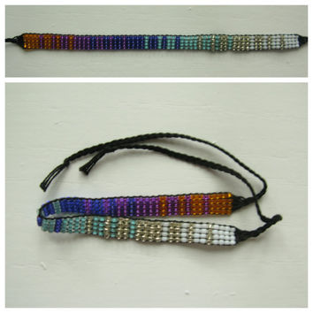 SALE // Hand-loomed Seed Bead Friendship Bracelet