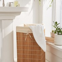 Bamboo Wicker Hamper | Urban Outfitters