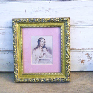 Vintage Victorian Lady Print - Matted and Framed