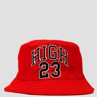 Red High 23 Bucket Hat from Dope Fein Boutique