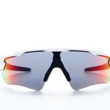 Oakley OO 9208 9208/18 Polished White Frame Positive Red Iridium Lens 38