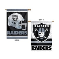 Oakland Raiders NFL Premium 2-Sided Vertical Flag (28x40)