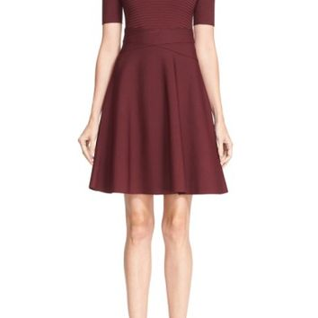 T by Alexander Wang Rib Knit Fit & Flare Dress   Nordstrom