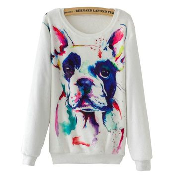 Dog Sweatshirts - Women's Crew Neck Sweatshirts