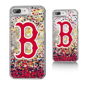 Boston Red Sox iPhone 6 Plus/6s Plus/7 Plus/8 Plus Sparkle Gold Glitter Case