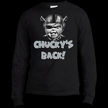 Raiders Chucky's Back USA100LS Port & Co. LS Made in the US T-Shirt