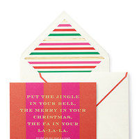 Kate Spade Tinsel In A Tangle Holiday Card Set Multi ONE