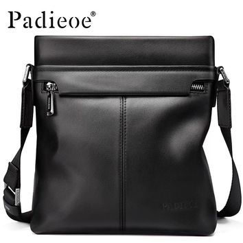 Men Genuine Leather Shoulder Messenger Bags Man Handbags Businessman Crossbody Sling Crossbody Bag