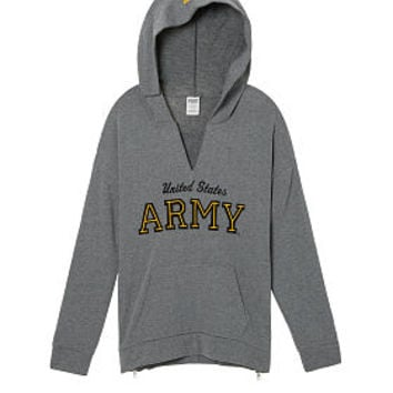 Army Drop Shoulder Pullover Hoodie - PINK - Victoria's Secret