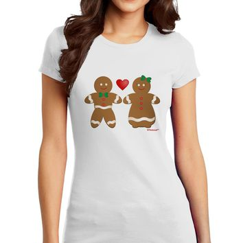 Gingerbread Man and Gingerbread Woman Couple Juniors T-Shirt by TooLoud