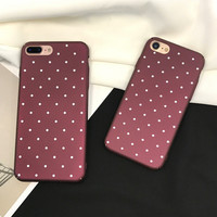 Womens Dots Case for iPhone 7 7Plus & iPhone se 5s 6 6 Plus Best Protection Cover +Gift Box