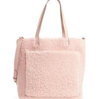 Madewell Medium Transport Genuine Shearling Tote | Nordstrom