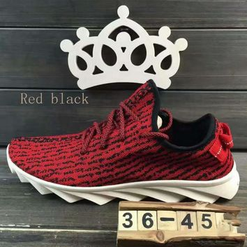 """""""ADIDAS""""Fashion running Classic coconut shoes mesh couples sports shoes Red black"""
