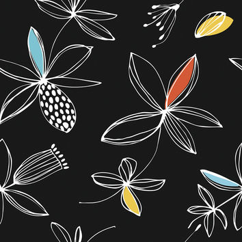 Floral Graphic Removable Wallpaper