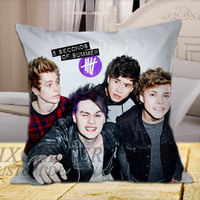 5SOS Funny Selfie on Square Pillow Cover