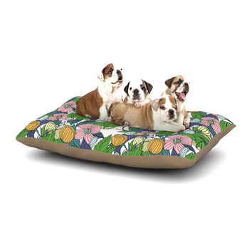 "Catherine Holcombe ""Spring Foliage"" Floral Pastels Dog Bed"