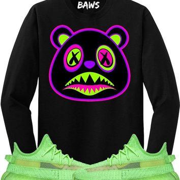 80s BAWS Long Sleeve Sneaker Tees Shirt - Yeezy 350 Boost Glow